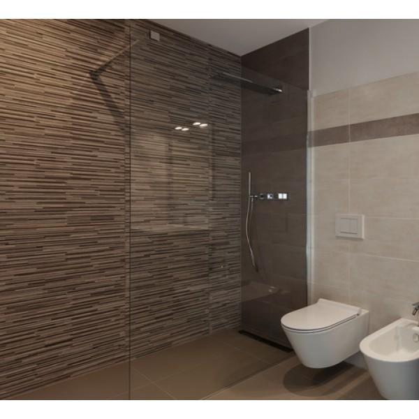 glasdusche walk in mit 1 festteil. Black Bedroom Furniture Sets. Home Design Ideas