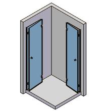 2 bewegliche Teile, 2 Türen