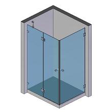 2 Türen, 1 Seitenteil