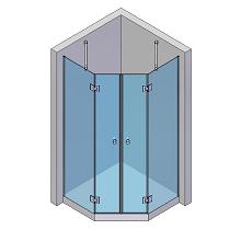 2 Türen, 2 Seitenteile schmal