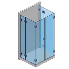 2 Festteile, 2 bewegliche Teile, 2 Türen